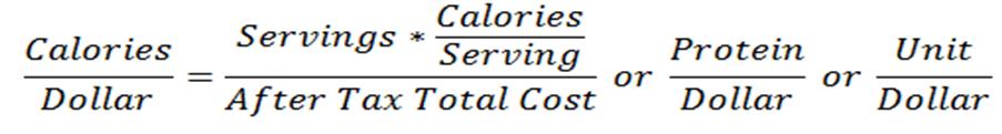 calorie-per-dollar-formula